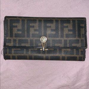 Fendi trifold wallet